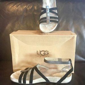 EXCELLENT CONDITION UGG Black Morocco Sandals